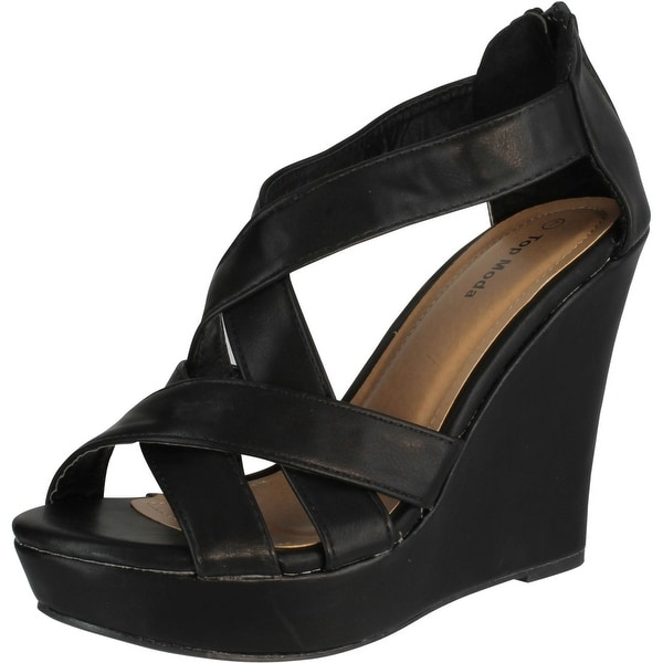 Top Moda Ella-18 Womens Gladiator Wedge Heel Sandals