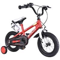 Goplus 12'' Freestyle Kids Bike Bicycle Children Boys & Girls w Training Wheels Red