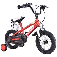 Goplus 16'' Freestyle Kids Bike Bicycle Children Boys & Girls w Training Wheels Red