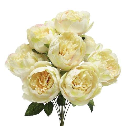 Set of 2 Peony Flower Stems Bush Bouquet 20in