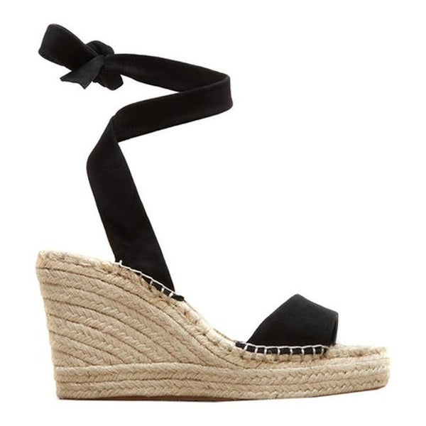 9c1358800bf Kenneth Cole New York Women's Odile Espadrille Wedge Black Suede