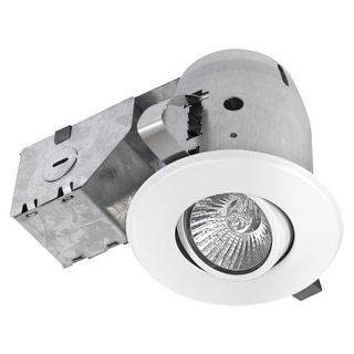 Lithonia Lighting 3 Inch Matte White Gimbal Recessed Lighting Kit Free Shipping On Orders Over