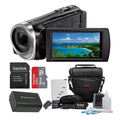 Sony HDR-CX455 Handycam Full HD 1080p Camcorder with Accessory Bundle