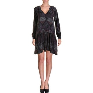 Sanctuary Womens Pleated Paisley Casual Dress