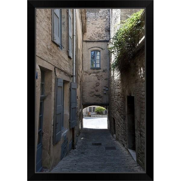 """Alleyway, Bonnieux, Vaucluse, Provence Alpes Cote dAzur, France"" Black Framed Print"