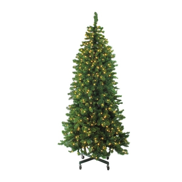 7.5' Pre-Lit LED Slim Olympia Pine Artificial Christmas Tree - Warm White Lights