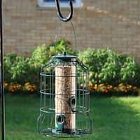 Sunnydaze 10-Inch Green 4-Peg Outdoor Garden Squirrel-Proof Wild Bird Feeder