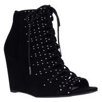 Jessica Simpson Barlett Strappy Studded Wedge Pumps, Black