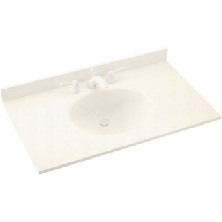 "Swanstone VT1B1937 Ellipse One Piece Vanity Top and Sink 19"" D x 37"" W"