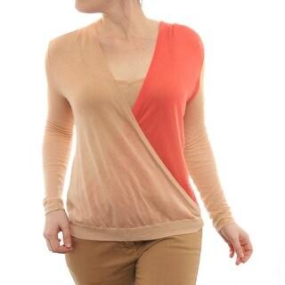 Si-iae Long Sleeve Scoop Neck Sweter Women Regular Sweater