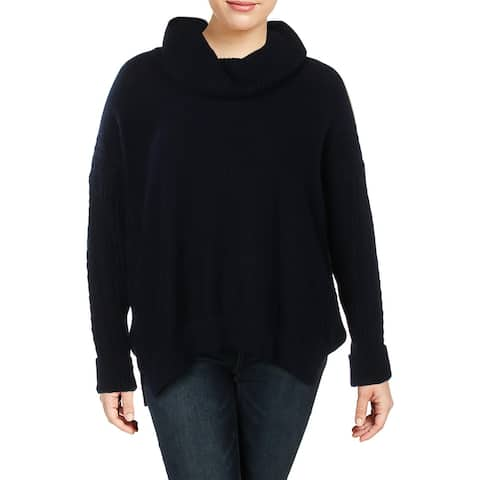 Lauren Ralph Lauren Womens Janisha Pullover Sweater Off-The-Shoulder Hi-Low