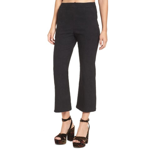 Leith Solid Black Women's Size Small S Stretch Crop Dress Pants