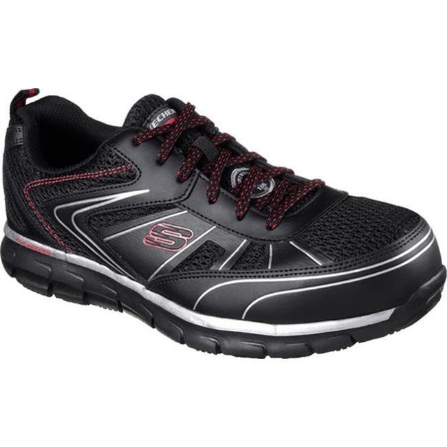 Skechers Men's Work Synergy Fosston Alloy Toe Sneaker BlackRed