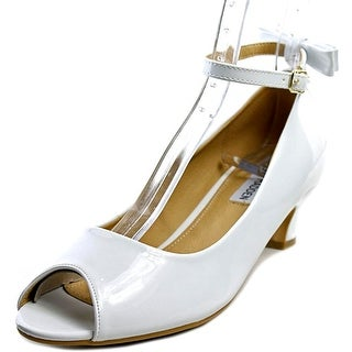 Steve Madden Jpeep Youth Peep-Toe Synthetic White Heels