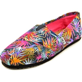 Toms Classic Loafers Women Round Toe Canvas Multi Color Loafer