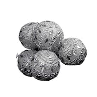 3.75 in. 6  Silver Crystal Shatterproof Christmas Ball Ornaments