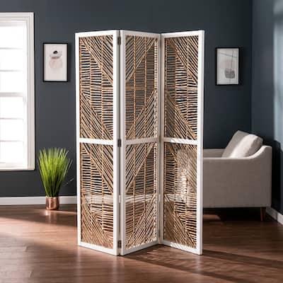 SEI Furniture Querrance Eclectic Natural Woven Fiber Room Divider/Screen