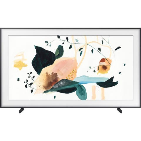 """Samsung The Frame LS03T 4k 50"""" Smart QLED HDR TV,Black (Refurbished) - Black - 44.1 x 25.3 x 1.8 Inches (Without Stand)"""