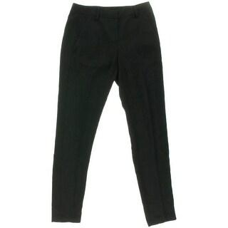 Tahari Womens Alanis Flat Front Skinny Dress Pants