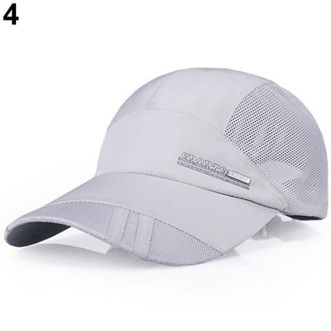 Fashion Men's Summer Outdoor Running Sport Baseball Visor Hat Mesh Peaked Cap