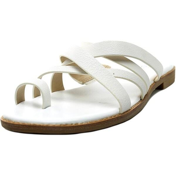 Via Spiga Reese 2 Women Open Toe Leather White Slides Sandal