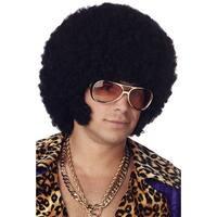 California Costumes Afro Chops Costume Wig (Black) - Black