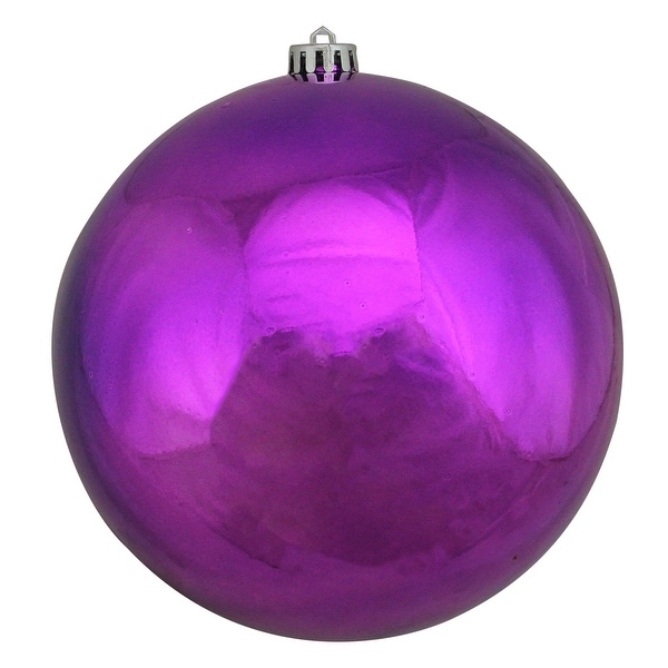 """Purple Shatterproof Shiny Commercial Size Christmas Ball Ornament 8"""" (200mm)"""