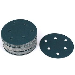 Unique Bargains 5 Sandpaper Car Sanding Disc Hook and Loop Fastener 6 Holes 120 Grit 50pcs