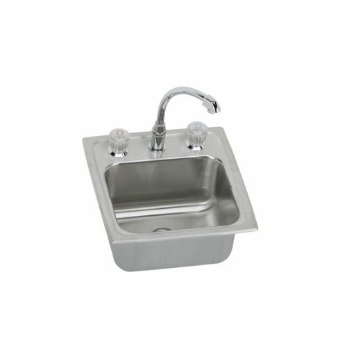 Elkay Blh15c Gourmet Ertone Stainless Steel 15 Single Basin Top Mount Bar Sink Package With