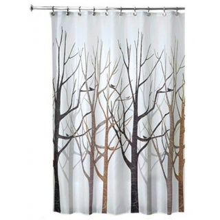 "Interdesign 45020 Forest Fabric Shower Curtain, 72"" x 72"""