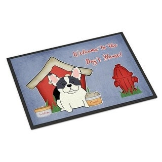 Carolines Treasures BB2765JMAT Dog House Collection French Bulldog Piebald Indoor or Outdoor Mat 24 x 0.25 x 36 in.