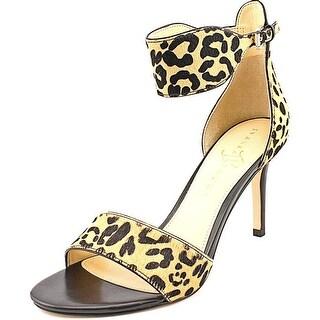 Ivanka Trump Gelana Women Open Toe Suede Brown Sandals
