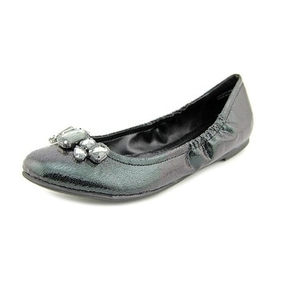CL By Laundry Golden Girl Women Round Toe Canvas Black Flats