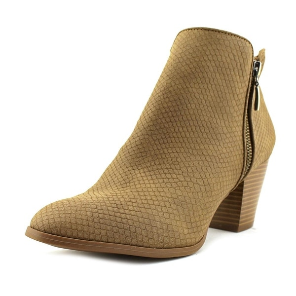 Style & Co Jamila Women Round Toe Synthetic Tan Ankle Boot