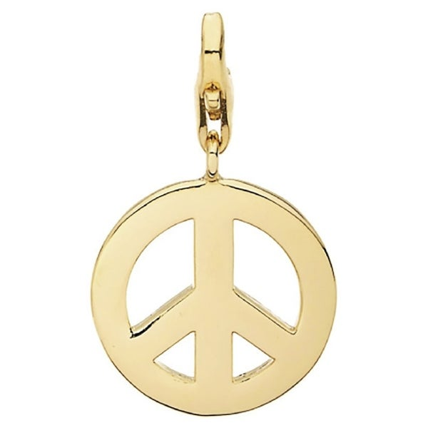Julieta Jewelry Peace Sign Outline Clip-On Charm