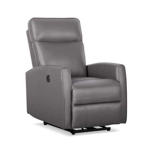 Serbia Grey Leather/Vinyl Power Recliner with USB Charger