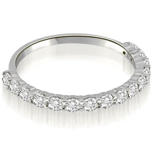 0.45 cttw. 14K White Gold Round Cut Diamond Wedding Band