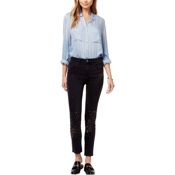 Joe's Womens Charlie Splatter Skinny Fit Jeans. Opens flyout.