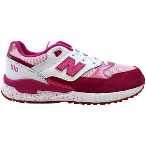 New Balance 530 Pink Glo Pink/White KL530OGG Grade-School