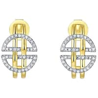 Prism Jewel 0.19Ct G-H/I1 Round Brilliant Cut Natural Diamond Push Back Earring - White G-H