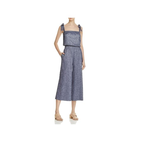 Theory Womens Alavine Jumpsuit Tie-Strap Casual