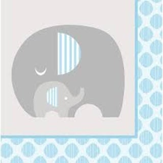 Club Pack of 192 Little Peanut Boy Blue Baby Shower 2-Ply Luncheon Napkins