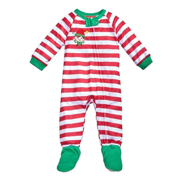 1cd3ac73fa Shop Family PJs Elfing Around Footed Pajamas Holiday Polyester - Free  Shipping On Orders Over  45 - Overstock - 22491742