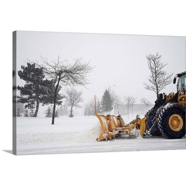 """Clearing the Snow"" Canvas Wall Art"