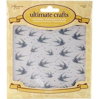 "Ultimate Crafts Rambling Rose Embossing Folder 6""X6""-Birds"