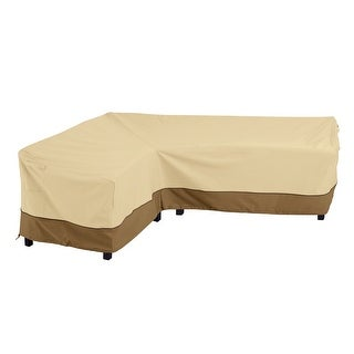 Link to Classic Accessories Veranda Water-Resistant 115 Inch Patio Left-Facing Sectional Lounge Set Cover Similar Items in Patio Furniture