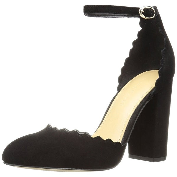 Marc Fisher Womens Sahar Suede Closed Toe Ankle Wrap D-orsay Pumps