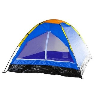 Wakeman M470039 2-Person Dome Tent for Camping with Carry Bag - Blue