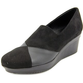 Spring Step Lourdes Open Toe Leather Wedge Heel