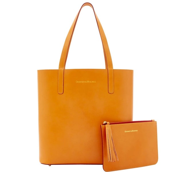 Dooney & Bourke Montecito Waverly Tote Pouch (Introduced by Dooney & Bourke at $298 in Aug 2016) - butterscotch red